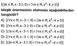 Lise Matematik Online ÖABT Deneme Sınavı Çöz