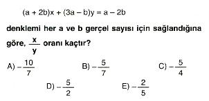 1. dereceden denklem ve eşitsizlikler 4