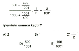 Rasyonel ve ondalık sayılar 1
