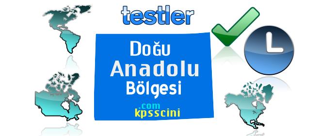 Doğu Anadolu Bölgesi ve Özellikleri Test Soruları Çöz 2