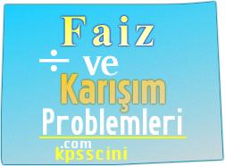 Faiz ve Karışım Problemleri Soruları Çöz 2