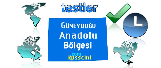 Coğrafi Bölgeler Güneydoğu Anadolu Testi Online Çöz 2
