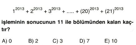 işlem ve modüler aritmetik 4