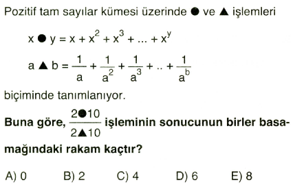 işlem ve modüler aritmetik10