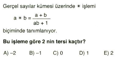 işlem ve modüler aritmetik9