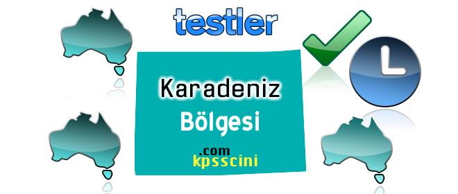 Karadeniz Bölgesi ve Özellikleri Testi Online Çöz 2