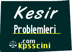 Kesir Problemleri Testi Online Çöz 1