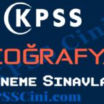 KPSS Coğrafya Deneme Sınavı Çöz
