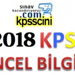KPSS Güncel Bilgiler Testi Çöz (2018 KPSS)