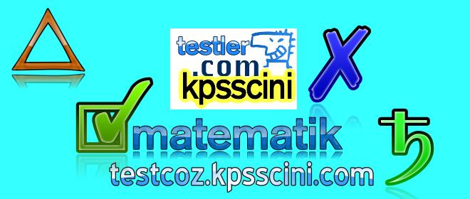 Online KPSS Matematik Deneme Sınavı  Soruları Çöz 8 (TG Denemeden)