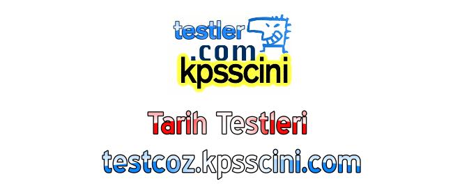 Online KPSS Tarih Testi Çöz