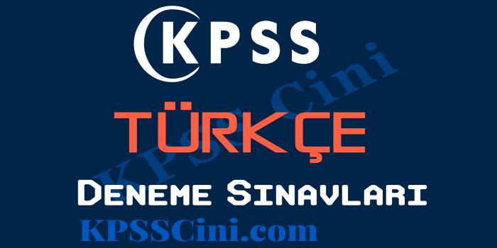 KPSS Türkçe Deneme Sınavı Çöz