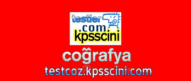 Online KPSS Coğrafya Testleri ve Denemeleri Çöz (Tüm Konular)