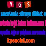 YGS Matematik Üslü ve Köklü Sayılar Online Test Çöz 1